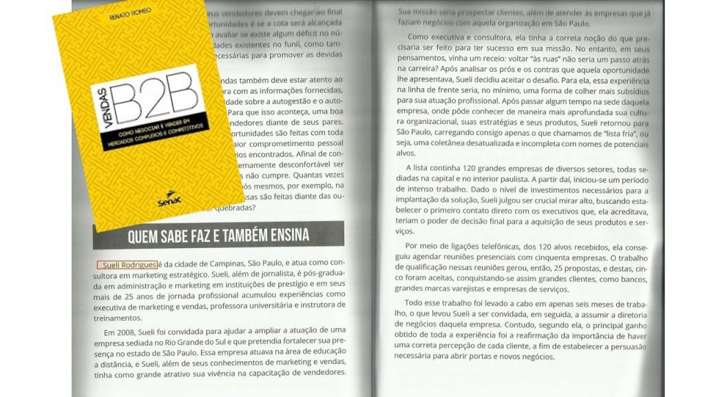 Experiência no livro Vendas B2B